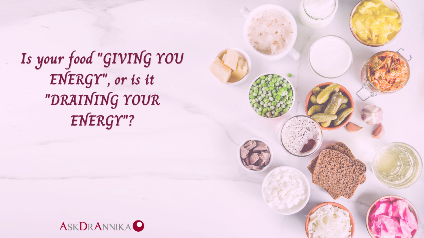 Image that shows some foods for good energy