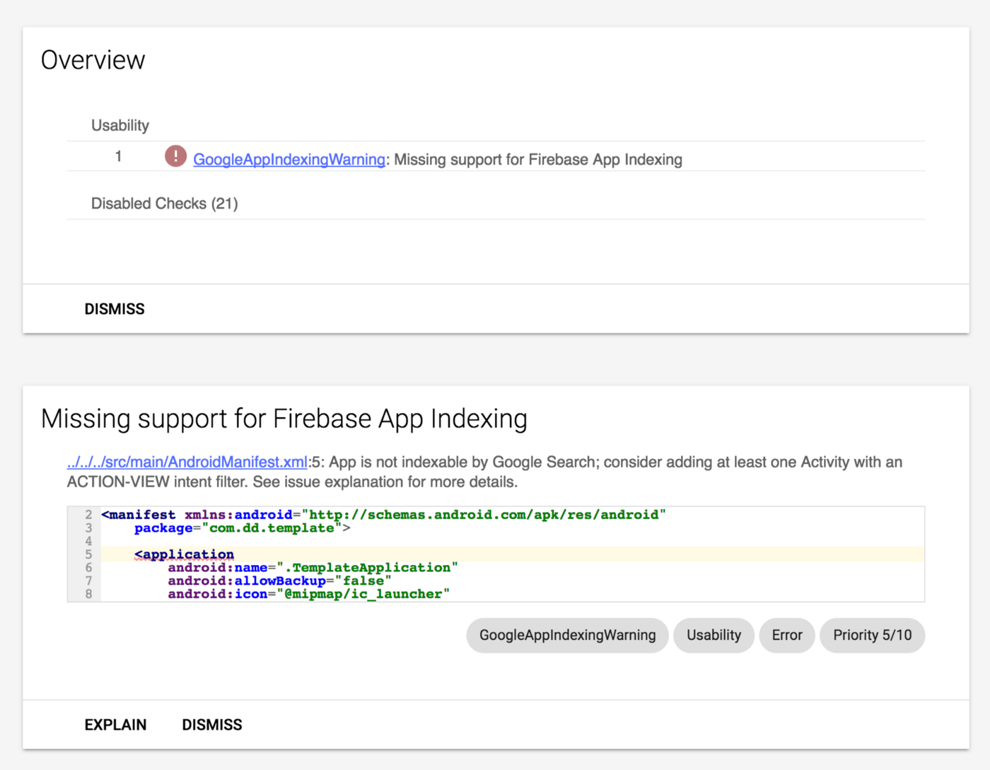 Configuring Android Project — Static Code Analysis Tools