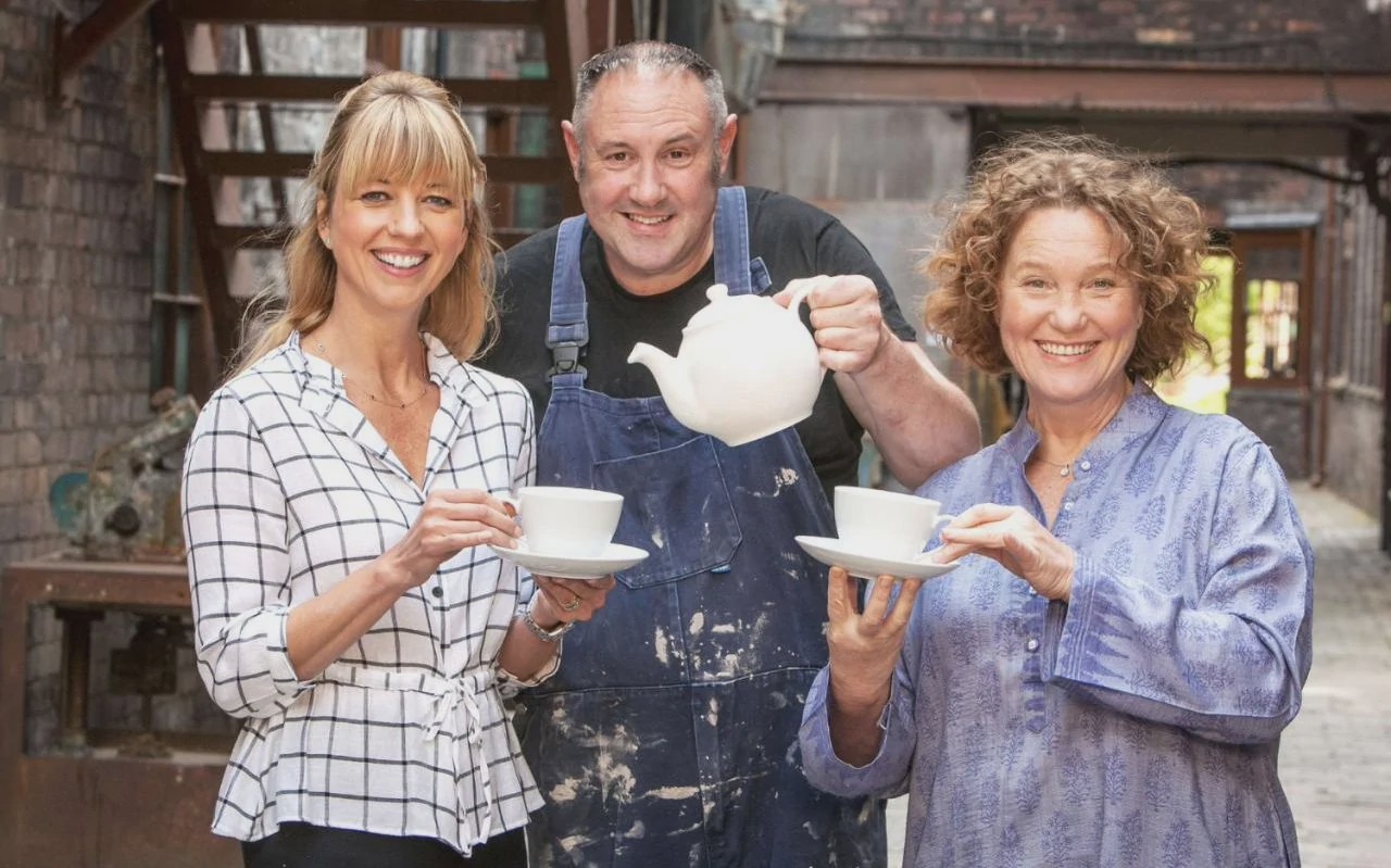 The hosts and judges of the reality competition show 'The Great Pottery Throw Down' on HBOMax