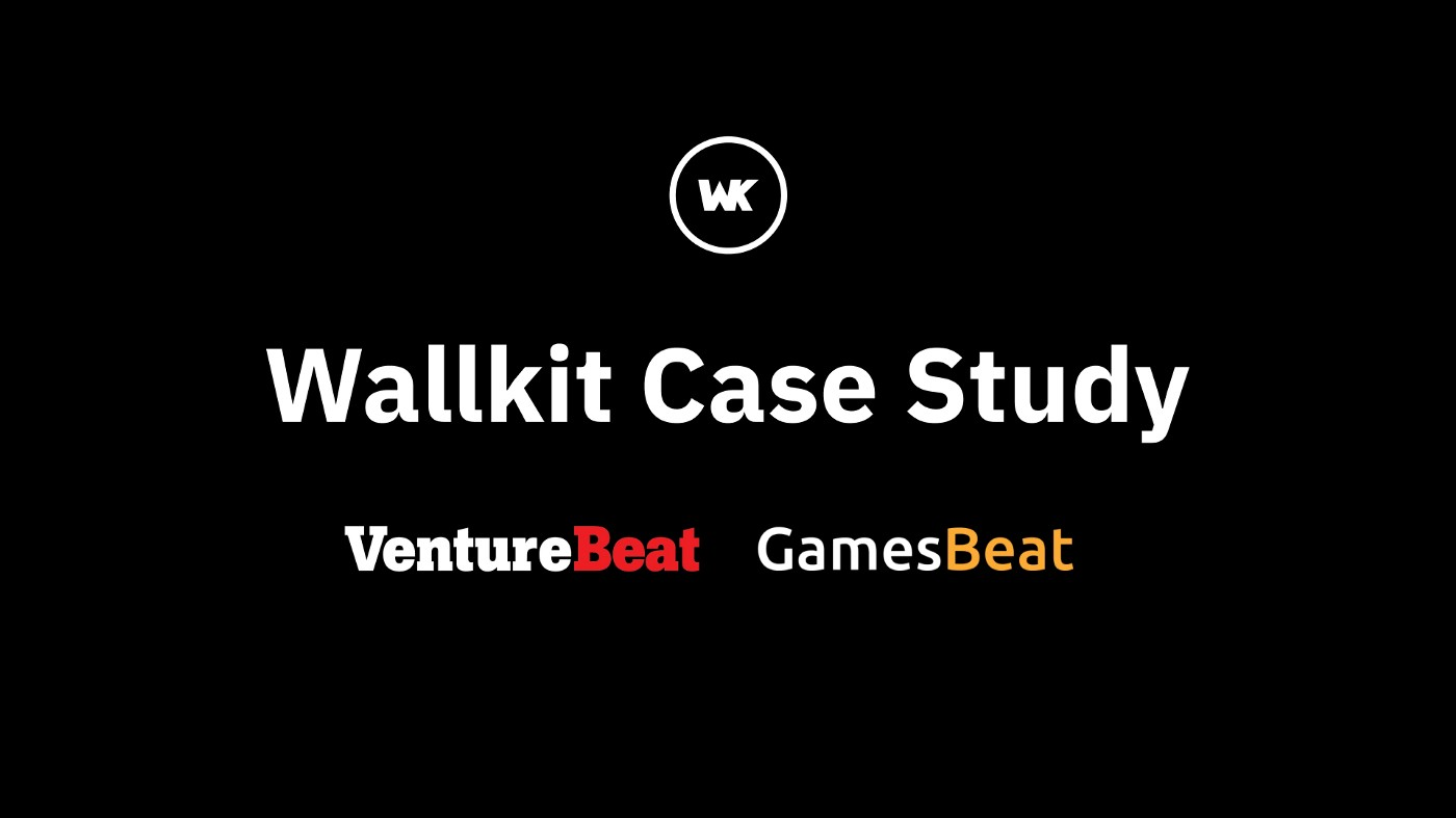 Wallkit Case Study of VentureBeat and GamesBeat subscriptions and events
