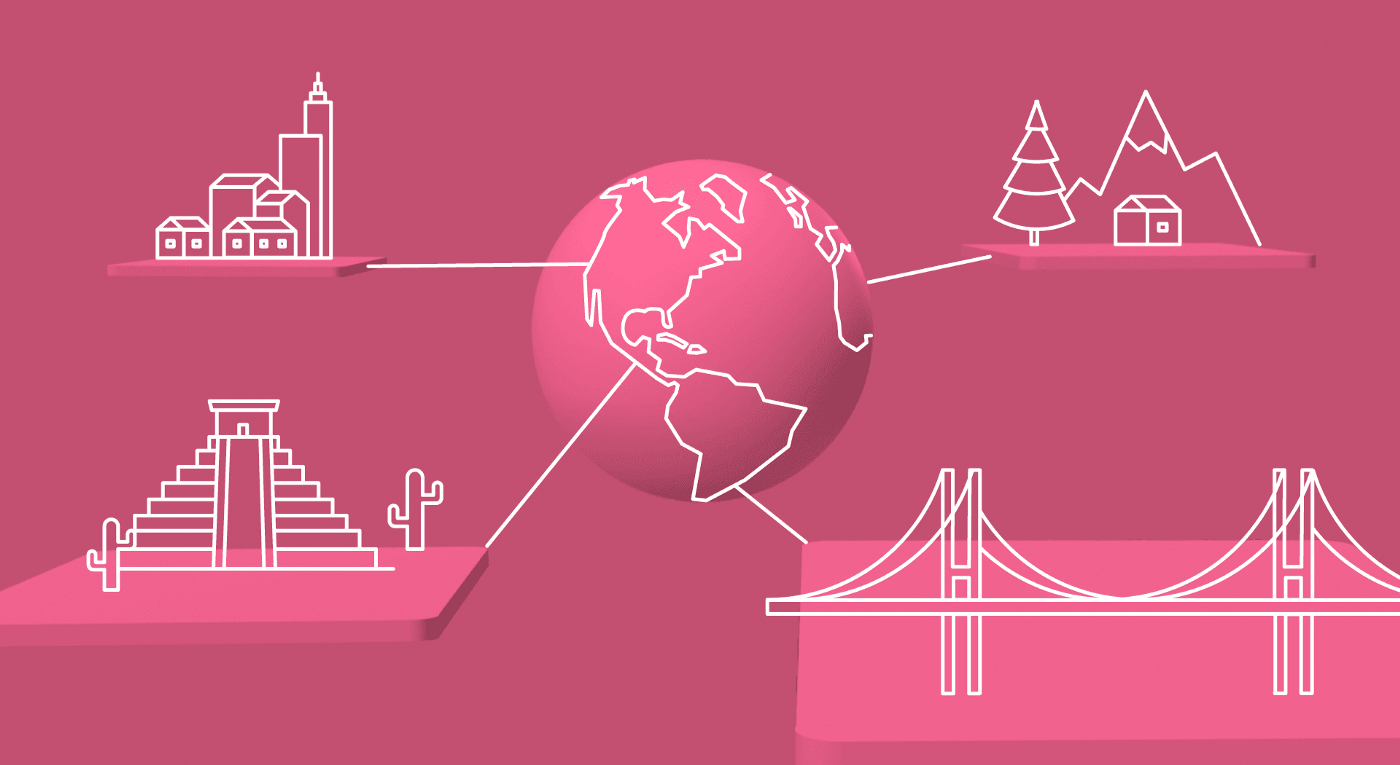 Outsourcing-Software-Development-Location-Doesn't-Matter-Concept-Image-of-Locations-Around-the-Globe