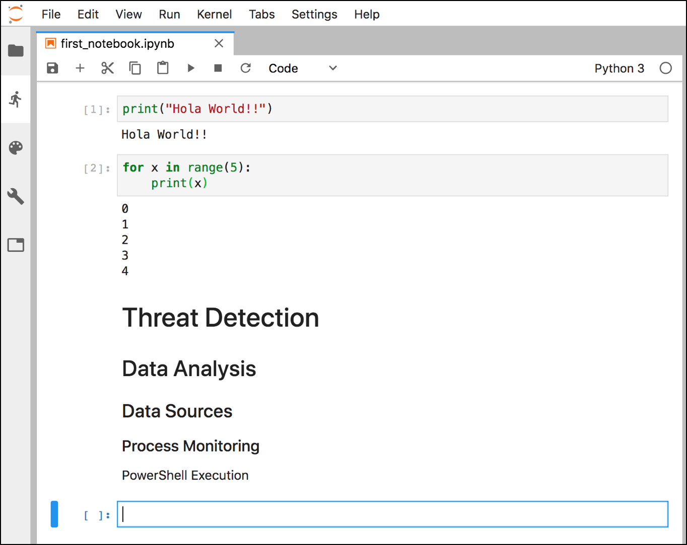 Threat Hunting with Jupyter Notebooks— Part 1: Your First Notebook 📓