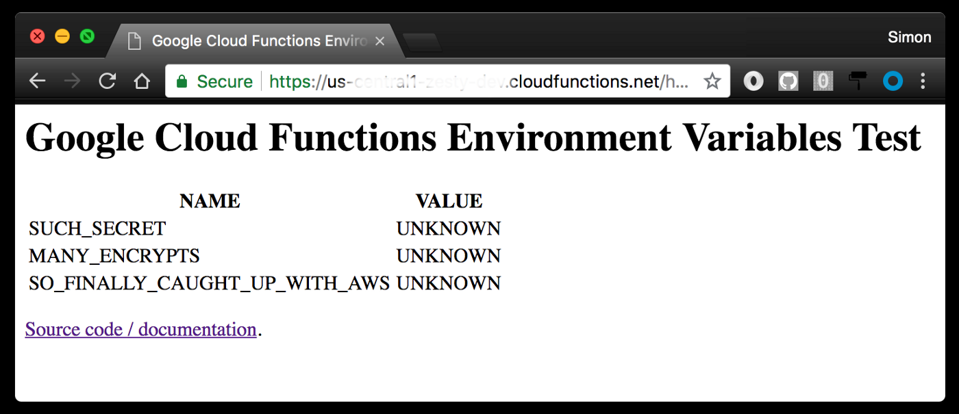 Using Environment Variables with Google Cloud Functions