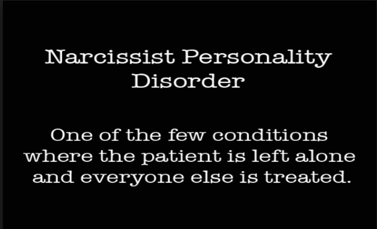 Treatment plan for narcissistic personality
