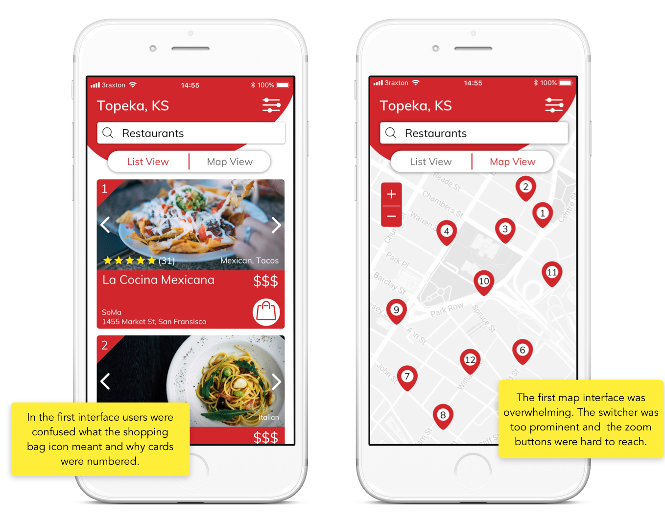 My Uber Design Exercise: Redesign Yelp's Mobile Web Interface