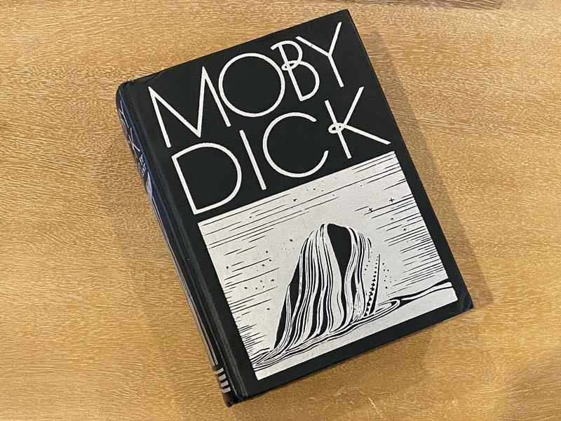 The cover of the Rockwell Kent version of Moby Dick