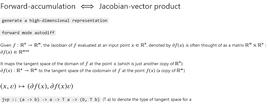 Jacobian-vector product