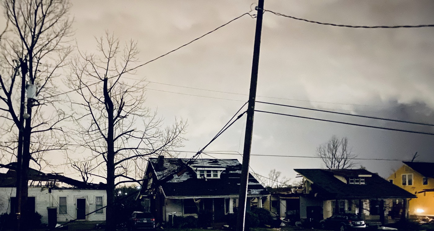 A photo of a gray sky in Nashville.