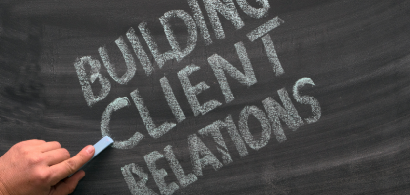 Build relations with the customers