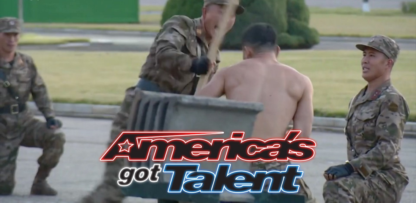 Pictured: A screen capture from the North Korean military's audition tape to compete on America's Got Talent.