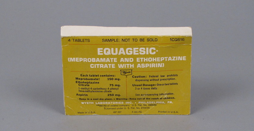 An old box of Equagesic tablets.