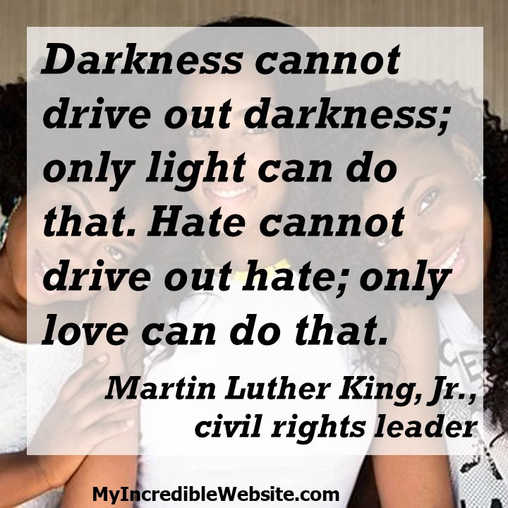 Martin Luther King, Jr. on Love vs. Hate