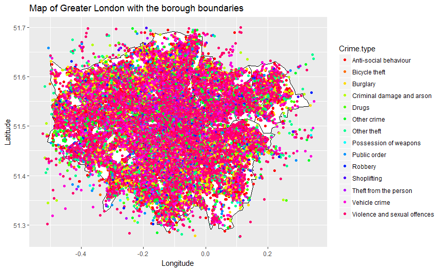 Plotting a map of London Crime Data using R - Towards Data Science