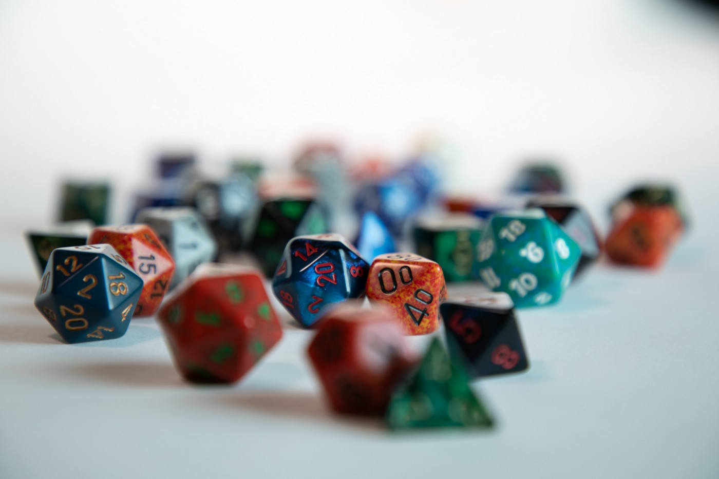 Photo of D&D dice taken by Jim Zavala