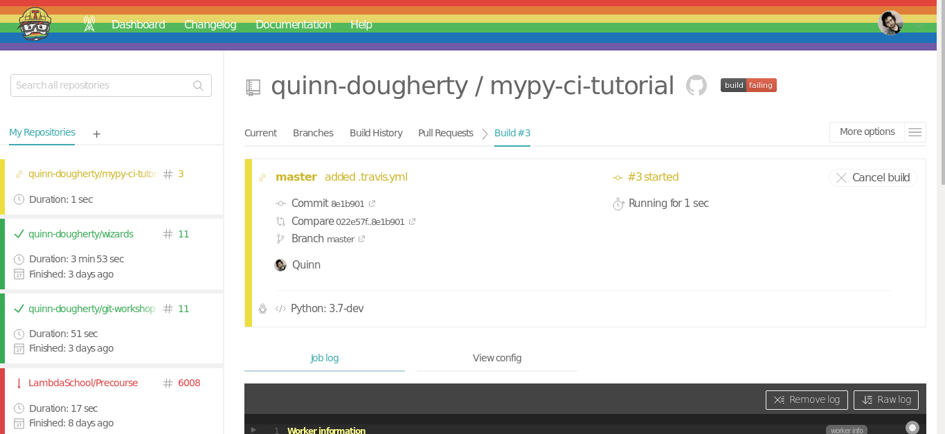Mypy and Continuous Integration sequence part 2: Continuous