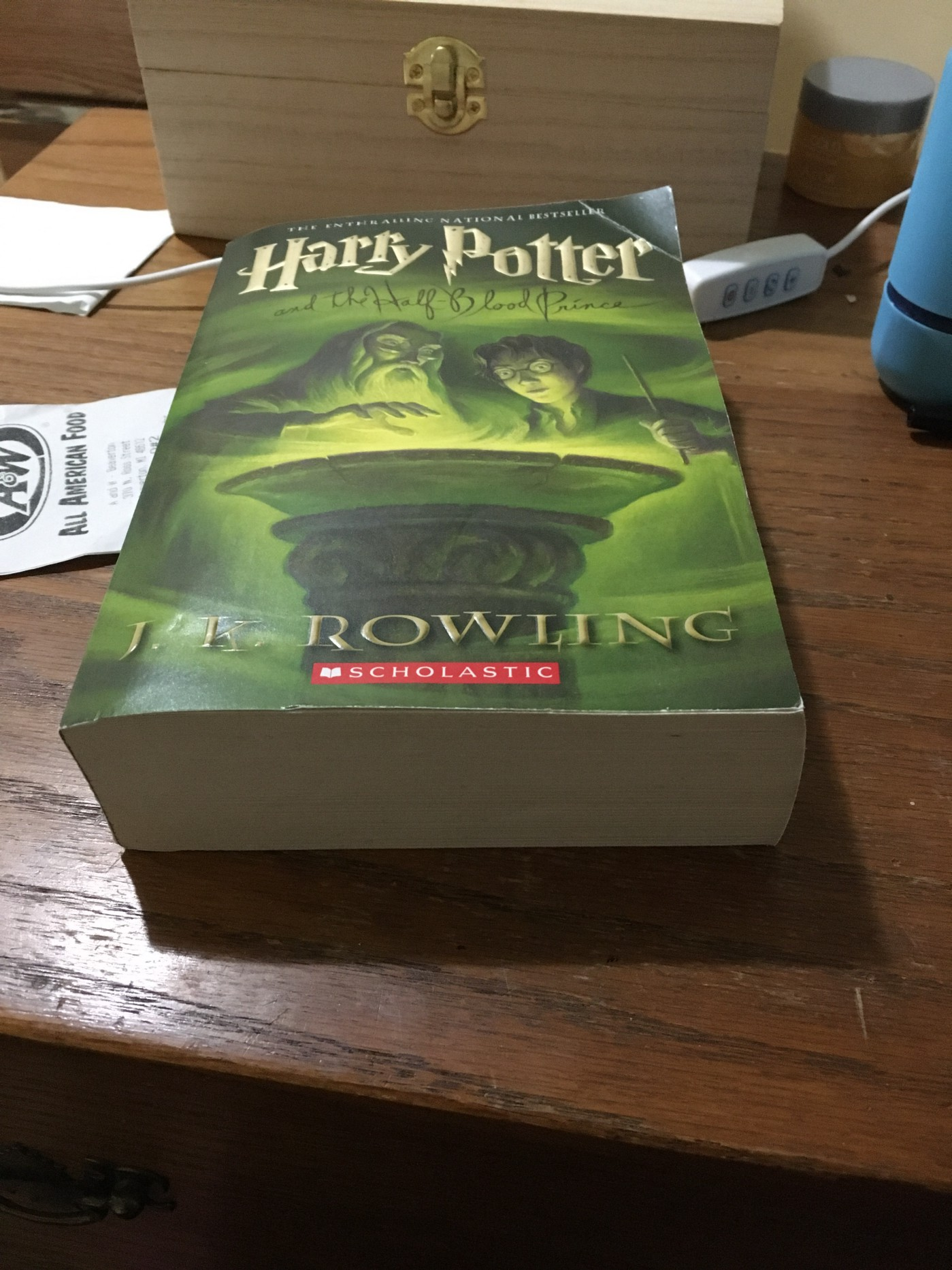 A paperback copy of Harry Potter and the Half-Blood Prince