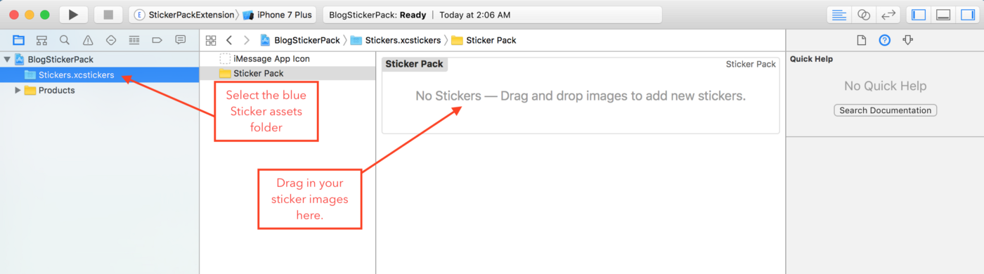 How to make an iMessage Sticker Pack (Xcode 8) - Yay It's Erica - Medium
