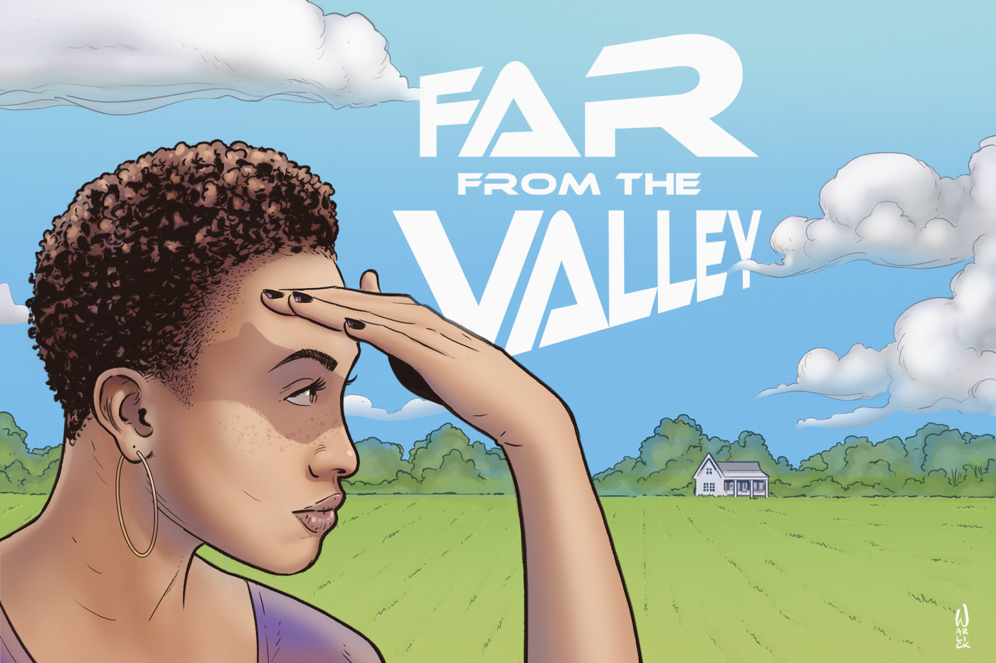 Far from the Valley illustration and logo