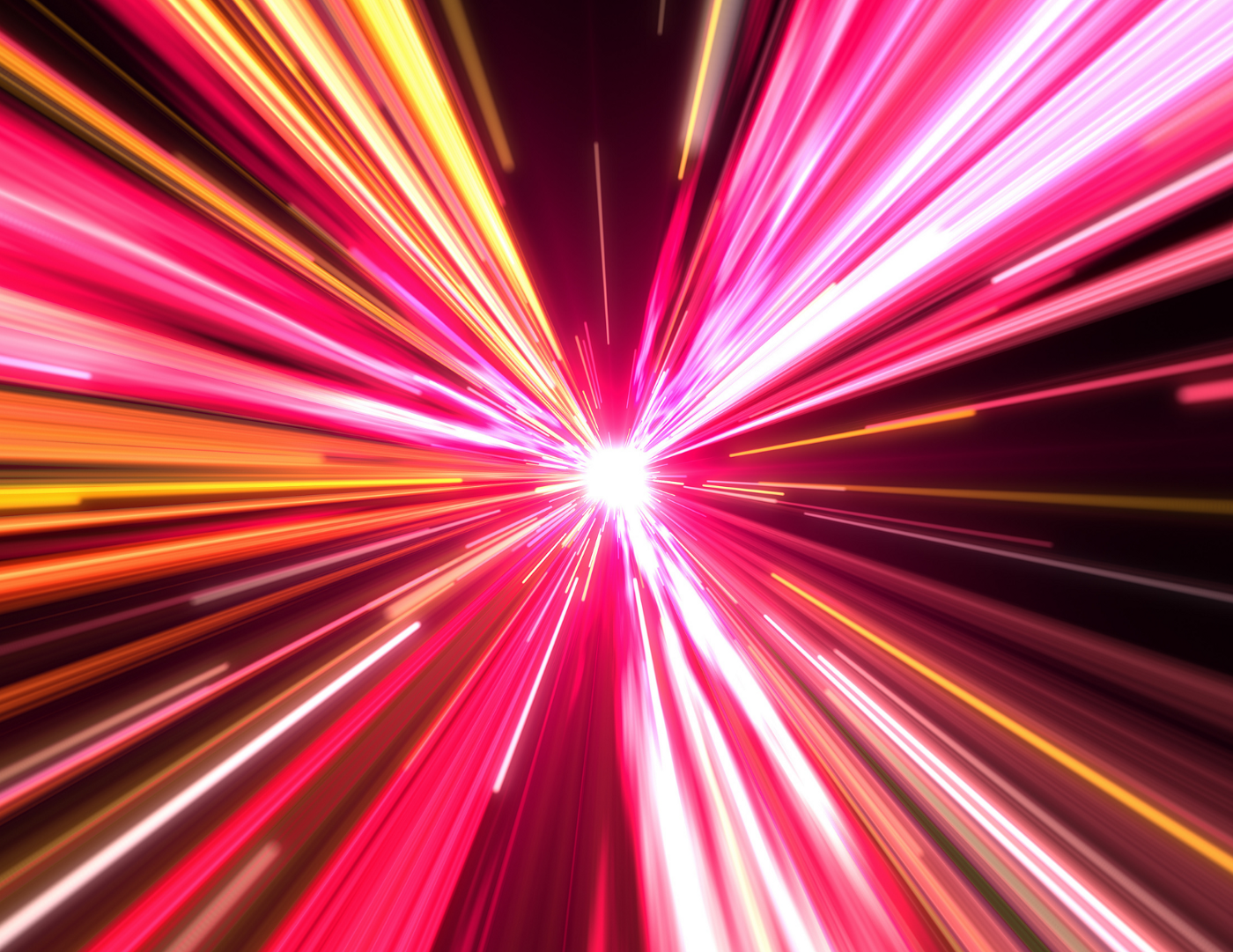Image of pink and yellow light in motion, as if viewer moving through a tunnel. The image symbolizes the movement of energy.