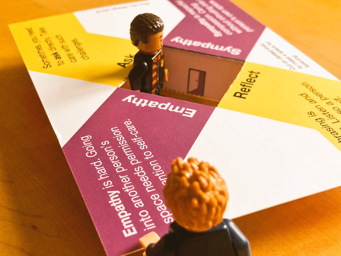 Minifig stands at final corner—on empathy and and the dangers for both speaker and listener