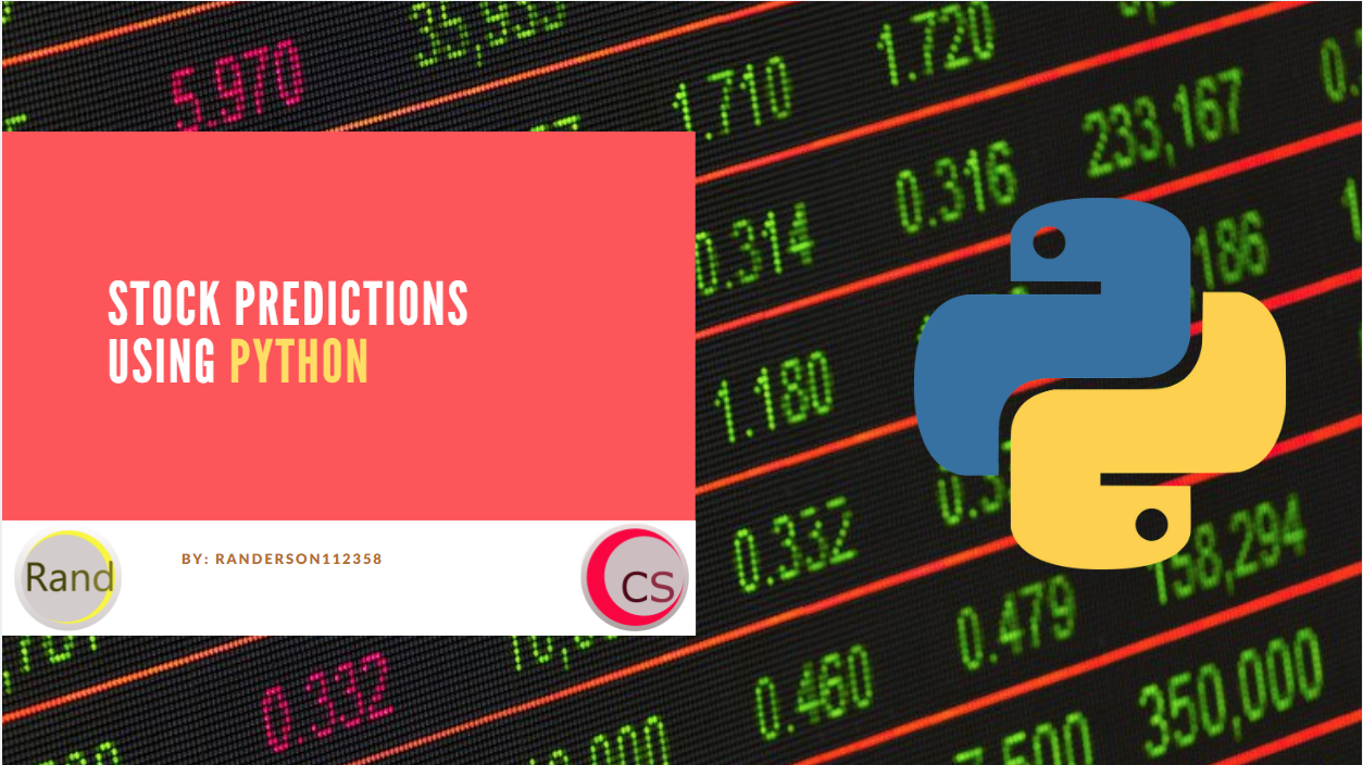 Predict Stock Prices Using Python & Machine Learning