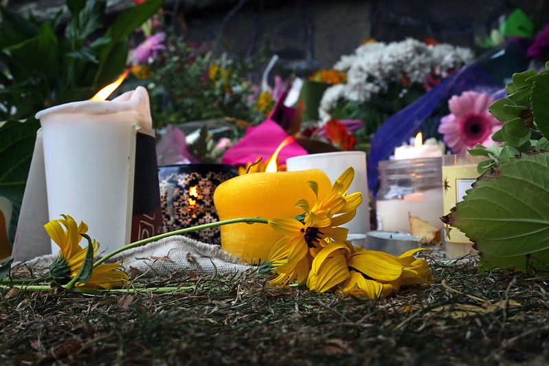 A memorial for victims of the Christchurch Mosque shooting in New Zealand.