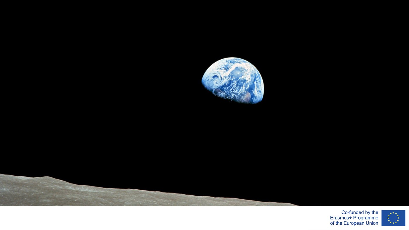 The Earth from the surface of the moon.