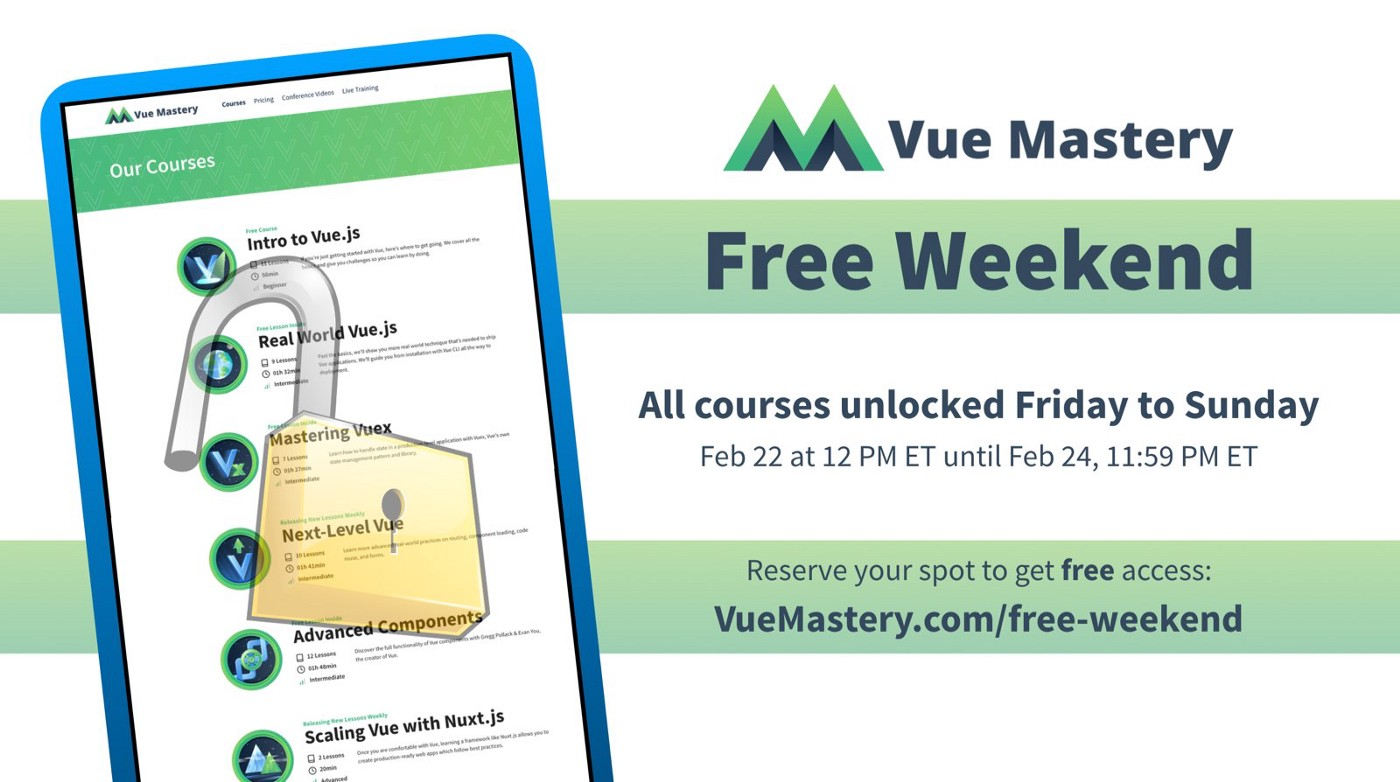 Free Weekend of Vue Mastery Courses - Vue Mastery - Medium