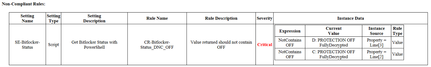 Baseline Reporting with Actual Values output in SCCM