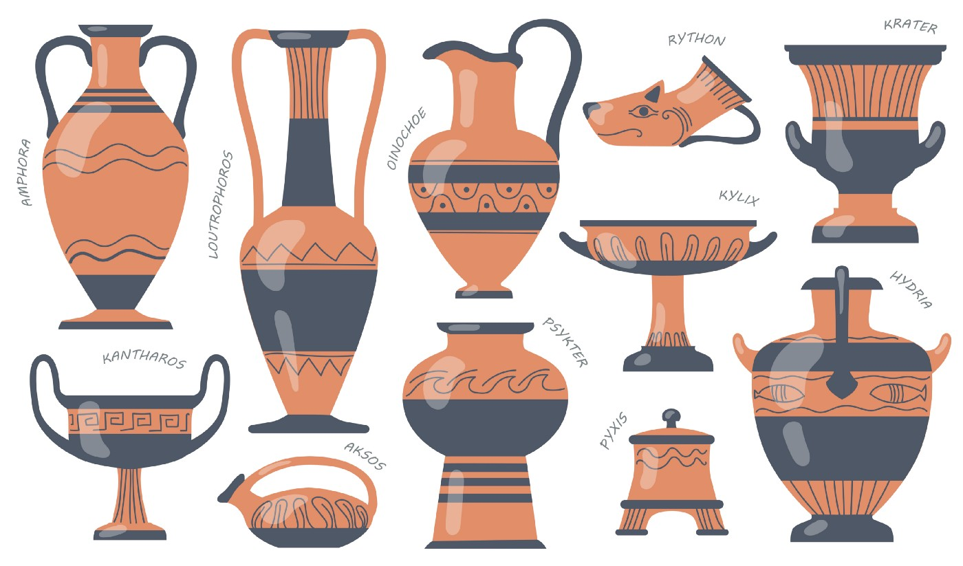 Ancient vessels; Source: Free Pik