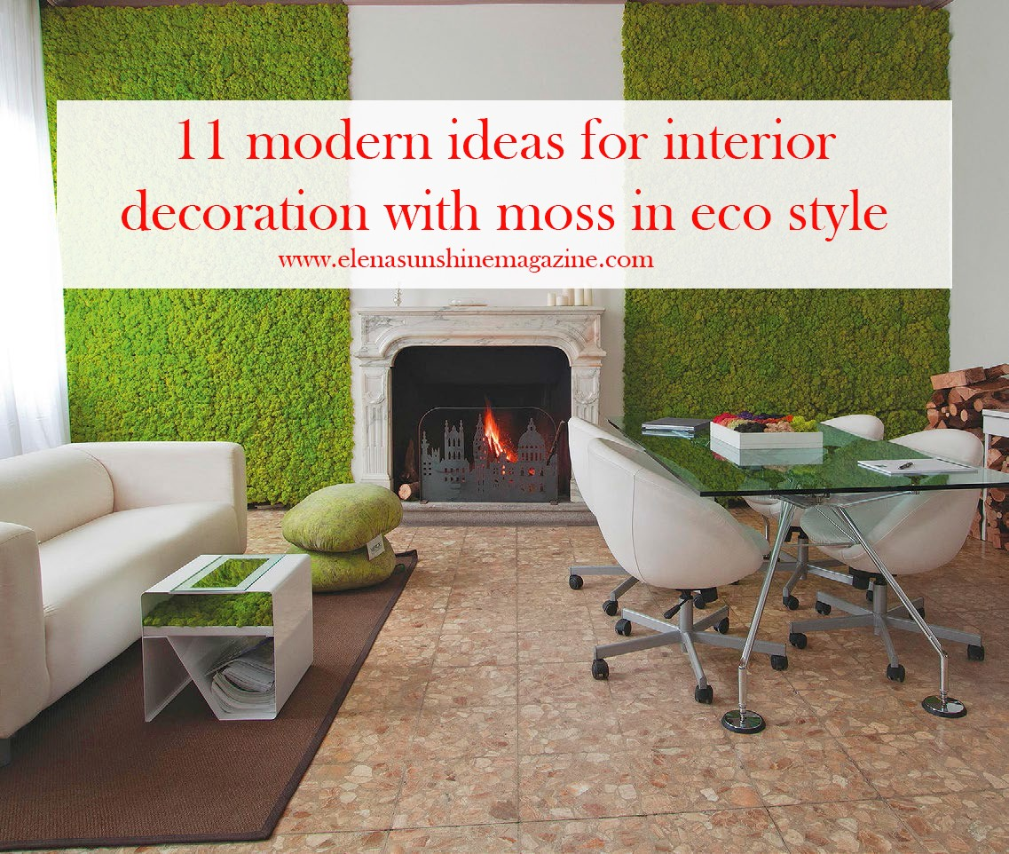 11 modern ideas for interior decoration with moss in eco style