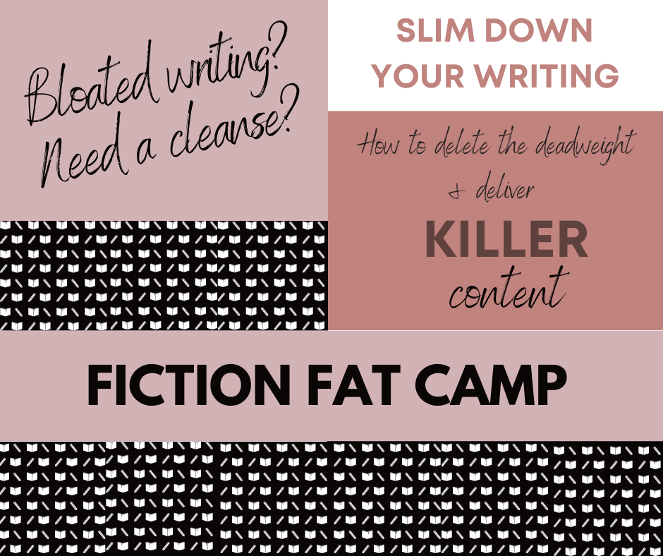 Word collage about slimming down writing and deleting unnecessary words