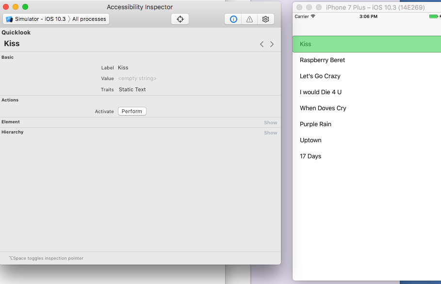 iOS Accessibility — The Accessibility Inspector (Swift 3)