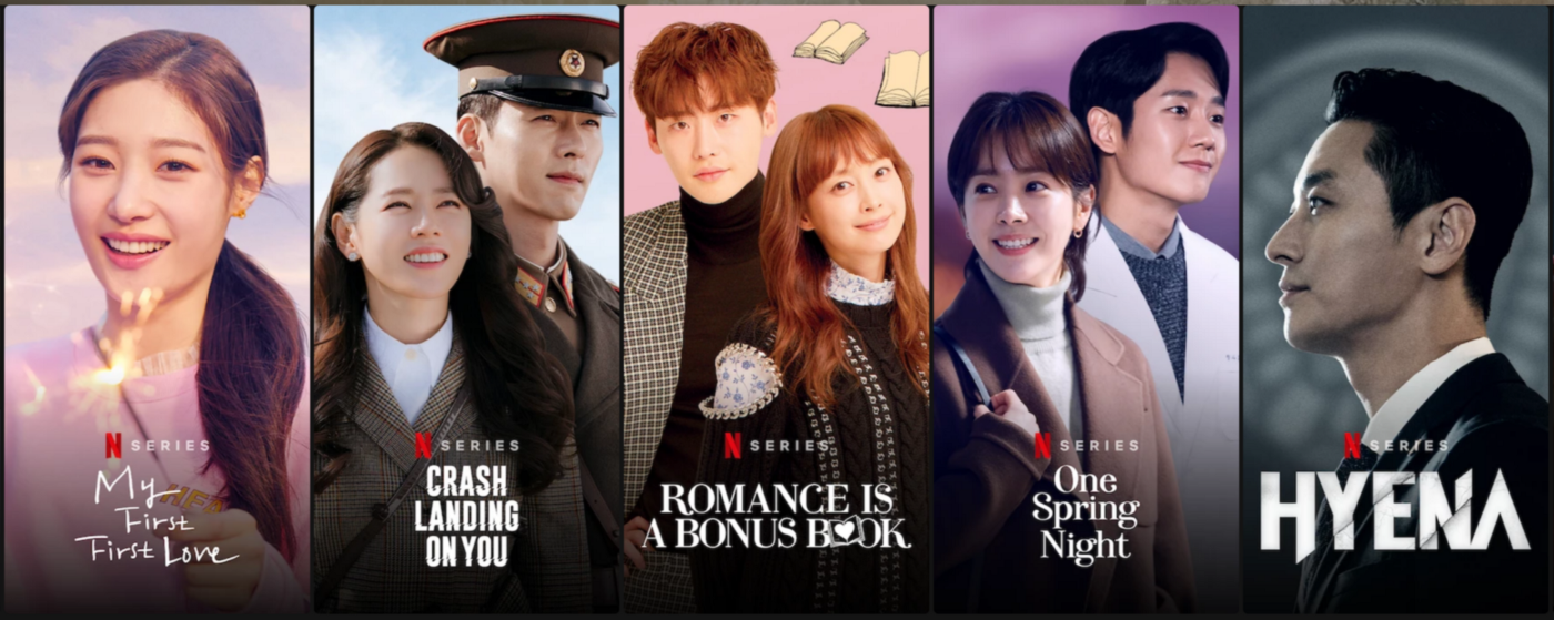 Netflix Originals: My First First Love, Crash Landing on You, Romance Is a Bonus Book, One Spring Night, and Hyena