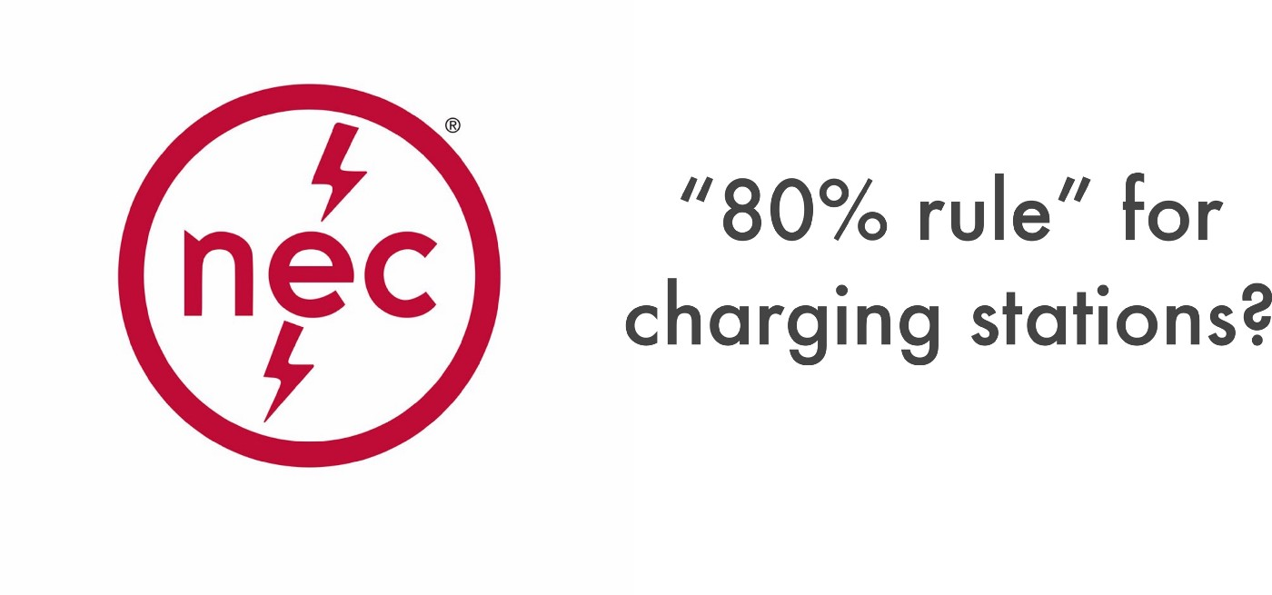 80% rule from NEC code for electric vehicles
