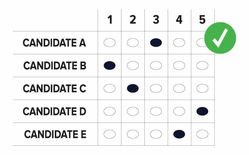 Example ballot for Ranked-Choice Voting in New York City