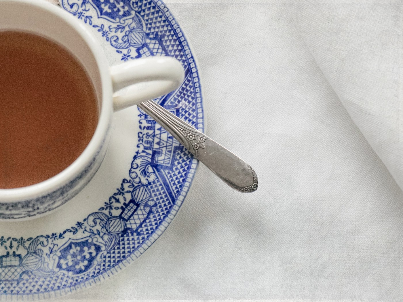 Tea cups, saucers and spoons all make great props for characters in conversation to move around unnecessarily.