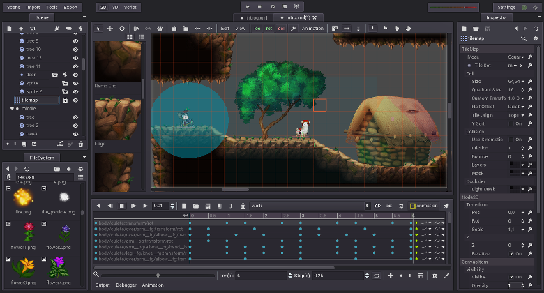 Godot Engine and pixel art: A better love story than Twilight