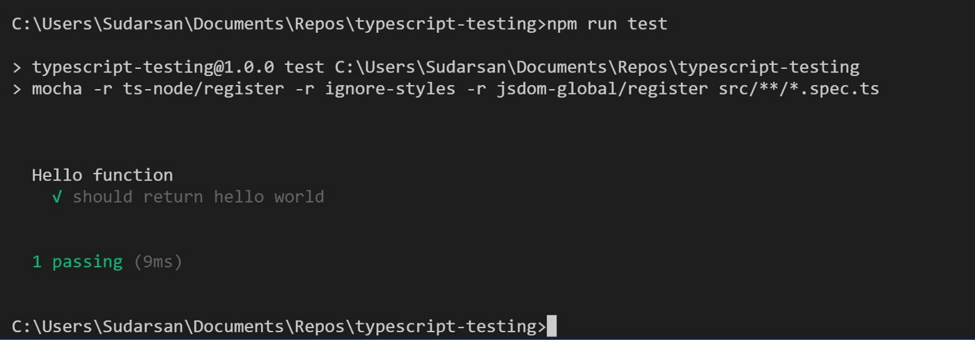 Unit testing node applications with TypeScript — using mocha and chai