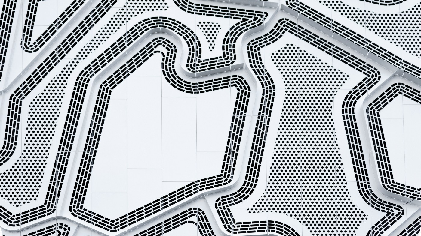 decorative: abstract pattern of black lines on white background