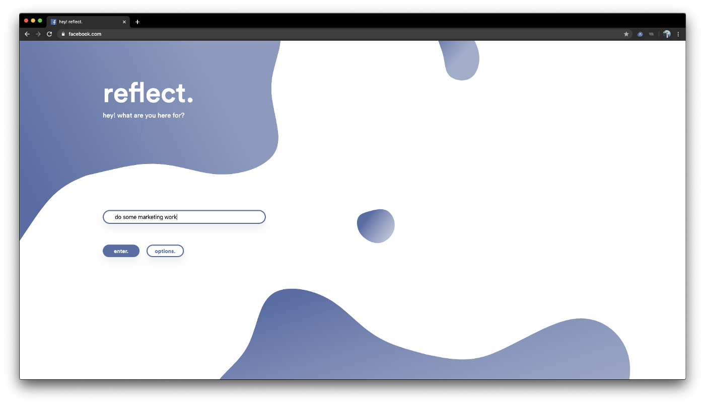 An image of the reflect block page