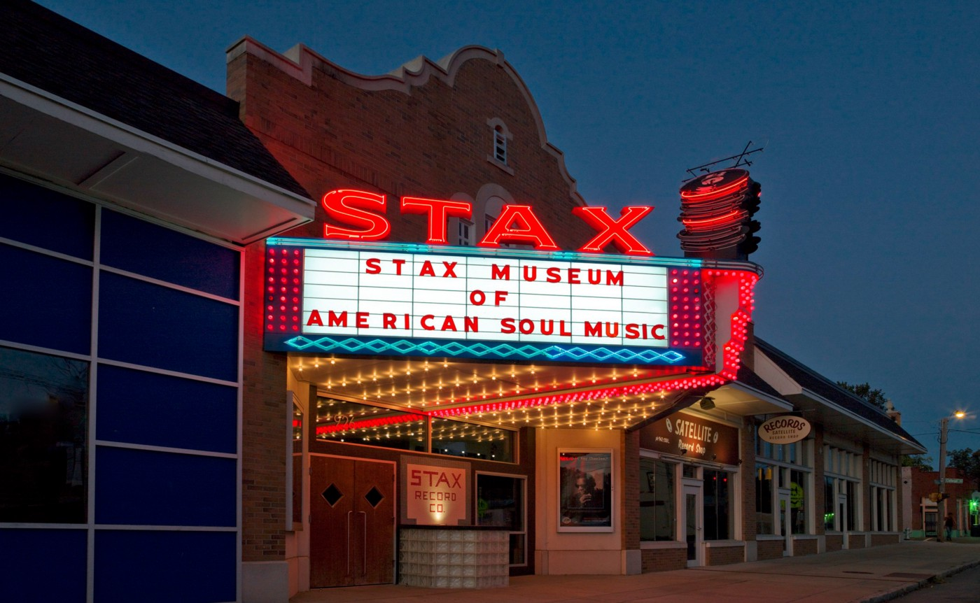 Photograph of Stax Records Museum building in Memphis, Tennessee