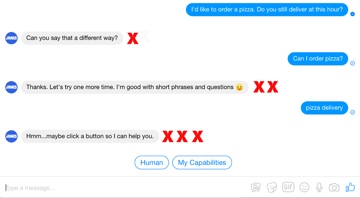 Turn a non-responsive chatbot into a delightful conversational
