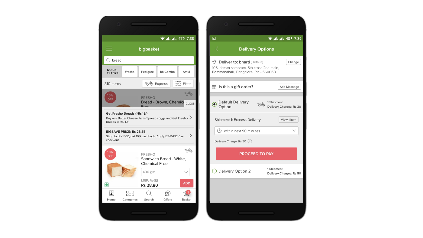 Heuristic evaluation of Bigbasket application — a UX case study