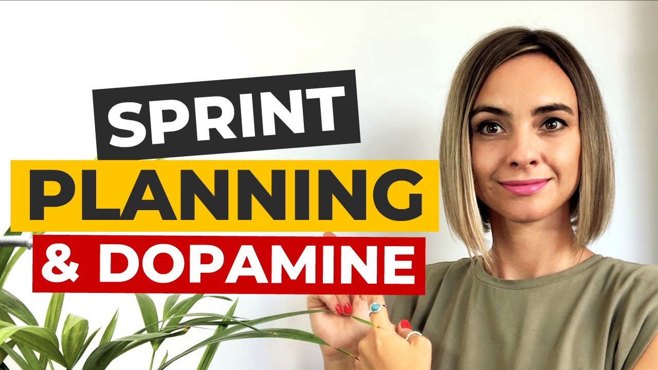 """The author of the article with a text saying """"Sprint Planning and Dopamine"""""""