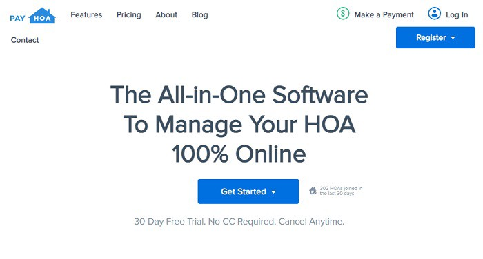 Screenshot courtesy of Pay HOA