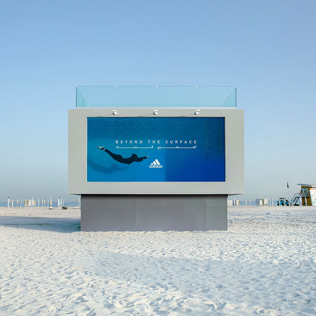 Adidas' Swimmable Billboard—Beyond the surface