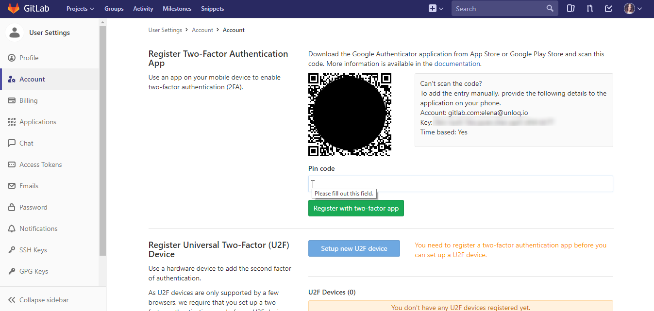 How To Add Two Factor Authentication (2FA) To Your GitLab Account