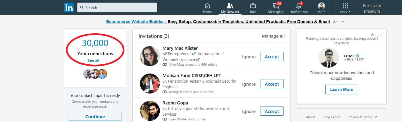 The Maximum Number of Connections and Invitations on LinkedIn