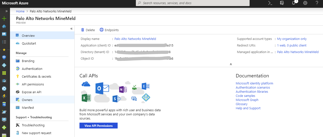 Microsoft Defender ATP — MineMeld  Bring Your Own Threat